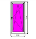 Пластиковое окно KBE 70 1710-770 П/О СП2