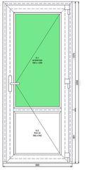 Дверь ПВХ  Novatex  2060-880 П Ч2