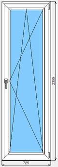 Дверь ПВХ Lider 725x2355