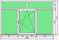 Окно ПВХ Dexen 58 2800x1810