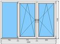 Окно ПВХ KBE Эксперт 2310x1580