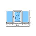 Окно ПВХ ламинированное Dexen 58 900-1610  П/О СПО