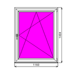 Окно ПВХ готовое Dexen 58 1484х1160