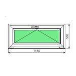 Готовое окно ПВХ Dexen 58 500-1150 СП2