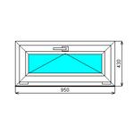 Готовое окно ПВХ Dexen 70 430-950 Л О СП2