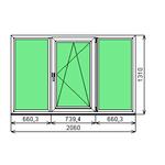 Окно ПВХ Dexen 58 1310х2060 СП2