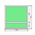 Окно ПВХ Dexen 58 1300х1310 СП2