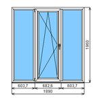 Окно ПВХ Dexen 58 1890х1960  СПО
