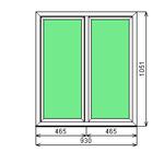 Окно ПВХ Dexen 58 930х1051 2Г СП2