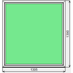 Окно ПВХ KBE Эксперт 1305x1390