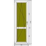 Готовая дверь ПВХ Dexen 58 700x2160