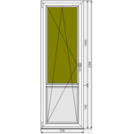 Окно ПВХ KBE Эксперт 730x2200