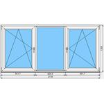 Окно ПВХ Dexen 58 2730x1300
