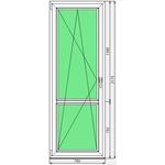 Дверь ПВХ KBE Эксперт 760x2170
