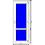 Дверь ПВХ Dexen 800x2100