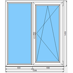 Окно ПВХ Faust 70 1298x1459