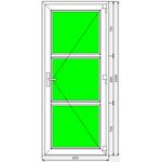 Дверь ПВХ KBE Эксперт 970x2240