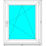 Окно ПВХ Dexen 70 910x1103