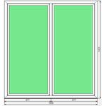 Окно ПВХ Dexen 58 1354x1423