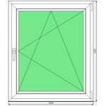 Окно ПВХ Dexen 58 1015x1205