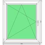 Окно ПВХ Dexen 58 1050x1205