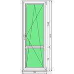 Окно ПВХ KBE 720x2070
