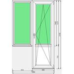 Окно ПВХ Dexen 58 1290x2100