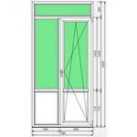 Дверь ПВХ Faust 70 1180x2430