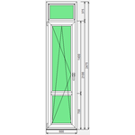 Дверь ПВХ Dexen 58 600x2475