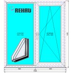 Окно в кухню Рехау