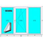 Окно в зал Рехау