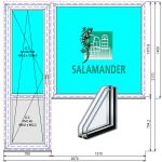 Выход на балкон Саламандер