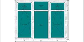 Пластиковое окно KBE 1760-2280 П/О СП2