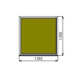 Окно ПВХ GrunHouse 58 глухое 1360*1390