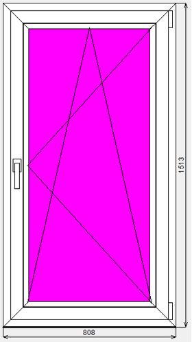 Окно ПВХ Dexen 58 808x1513