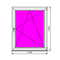 Пластиковое окно Dexen 58 1450х1160 П/О СП0