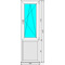 Окно ПВХ Dexen 70 640x2140