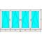 Окно ПВХ Dexen 70 2970x1480