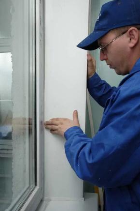 установка откосов в окна пвх